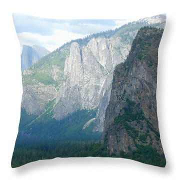 Yosemite Bridalveil Fall Throw Pillow by Henrik Lehnerer