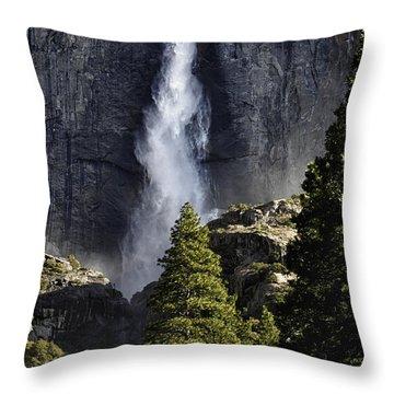 Yosemite Falls Throw Pillow by Rick Berk