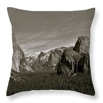 Throw Pillow featuring the photograph Yosemite Valley by Eric Tressler