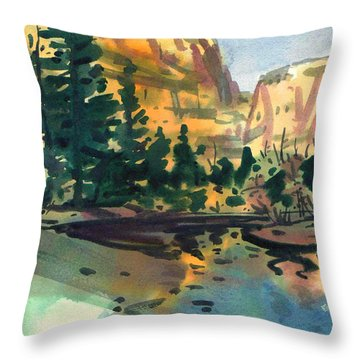 Throw Pillow featuring the painting Yosemite Valley In January by Donald Maier