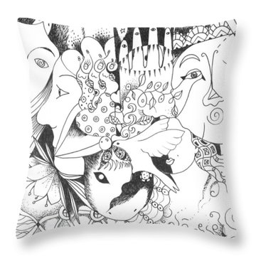 You And Me And The Seemingly Silent Throw Pillow