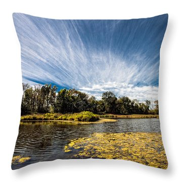 Throw Pillow featuring the photograph You Cannot Be Cirrus by Tom Gort