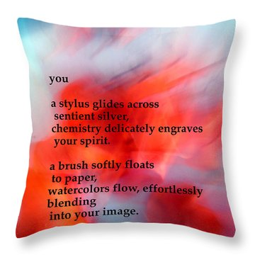 You Throw Pillow by Richard Donin