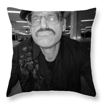 You Taulking To Me Throw Pillow by Kym Backland