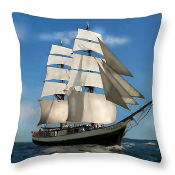 Throw Pillow featuring the painting Young America by Jann Paxton