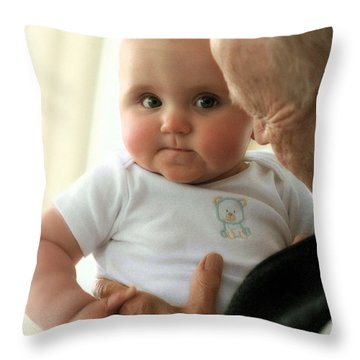 Young And Old Throw Pillow by Angela Rath