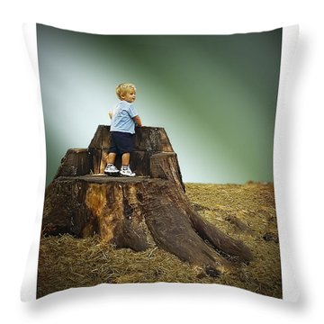Young Boy Throw Pillow by Brian Wallace