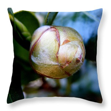 Young Camellia Throw Pillow