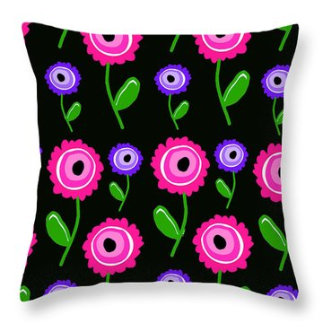 Young Florals  Throw Pillow by Louisa Knight