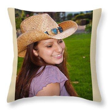 Young Jasmin Throw Pillow