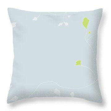 Throw Pillow featuring the digital art Young Poppy by Kevin McLaughlin