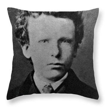 Young Vincent Van Gogh, Dutch Painter Throw Pillow by Photo Researchers