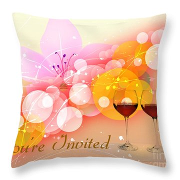 You're Invited Throw Pillow by Heinz G Mielke