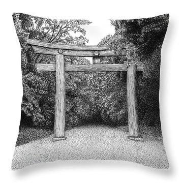 Yoyogi Park Gate Tokyo Throw Pillow