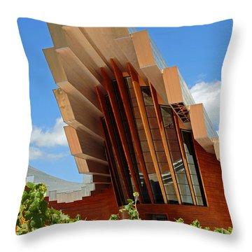 Ysios Winery Spain Throw Pillow by John Stuart Webbstock
