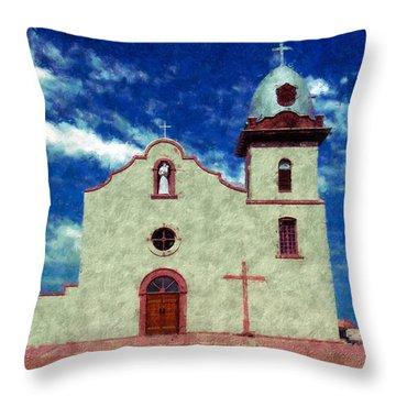 Ysleta Mission Texas Throw Pillow by Kurt Van Wagner