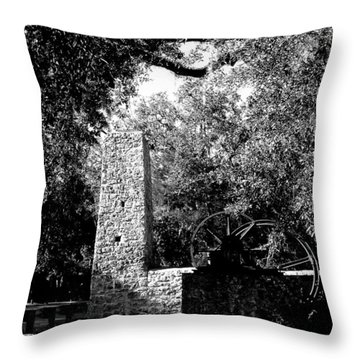 Yulee Sugarmill 2  Black And White Throw Pillow by Judy Wanamaker