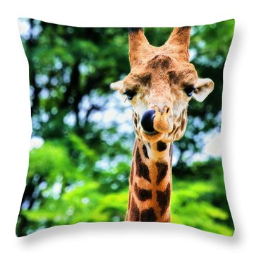 Yum Sllllllurrrp Throw Pillow by Angela Rath