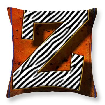Z Throw Pillow by Mauro Celotti