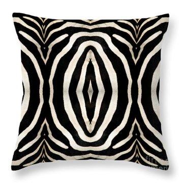 Zebra Hide Throw Pillow by Rose Santuci-Sofranko