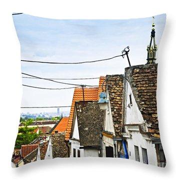 Zemun Rooftops In Belgrade Throw Pillow by Elena Elisseeva