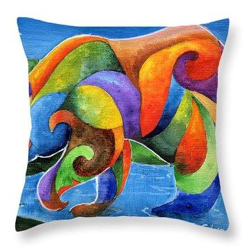 Zen Bear Throw Pillow by Sherry Shipley