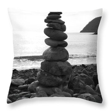 Throw Pillow featuring the photograph Zen Tower by Ramona Johnston
