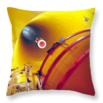 Zero Gravity Facility Throw Pillow by Nasa