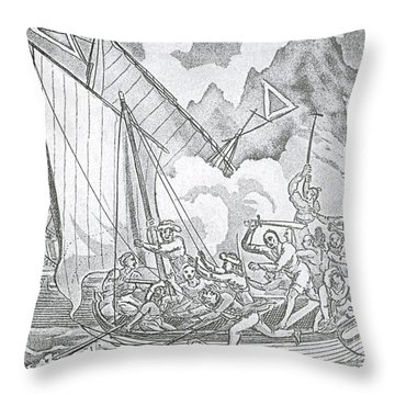 Zheng Yis Pirates Capture John Turner Throw Pillow by Photo Researchers