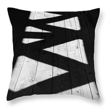 Zigzag  Throw Pillow by Luke Moore