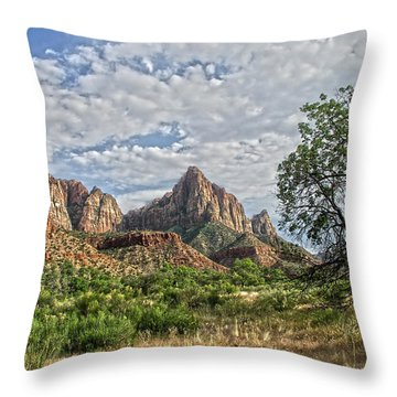 Throw Pillow featuring the photograph Zion National Park by Anne Rodkin
