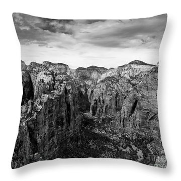 Zion National Park - View From Angels Landing Throw Pillow