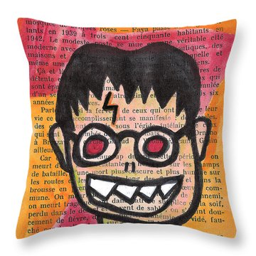 Zombie Harry Potter Throw Pillow by Jera Sky