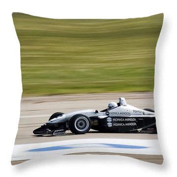 Zoooooooom Throw Pillow by Darcy Michaelchuk