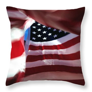 . . . She's Still There Throw Pillow by Steven Milner