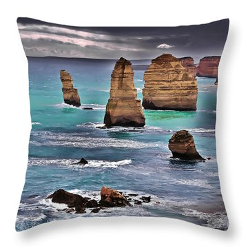 12 Apostles Throw Pillow by Blair Stuart