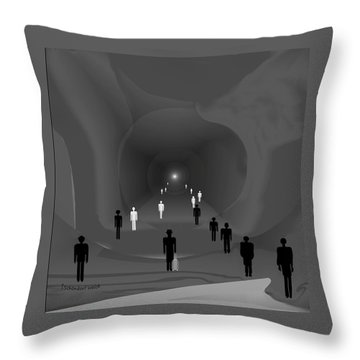 249 - The Light At The End Of The Tunnel   Throw Pillow