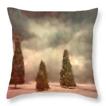 5 Pine Throw Pillow