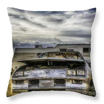 Throw Pillow featuring the photograph  80's Chevrolet Camaro by Bitter Buffalo Photography