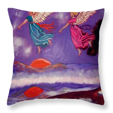 A Feather From The Breath Of God Throw Pillow
