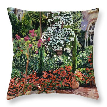 A Garden Approach Throw Pillow