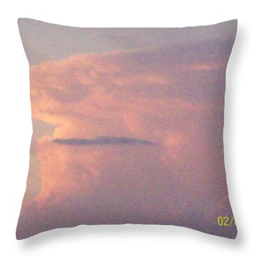 A Natural Face Cloud Throw Pillow by Robin Coaker