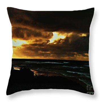 A Stormy Sunrise Throw Pillow by Blair Stuart