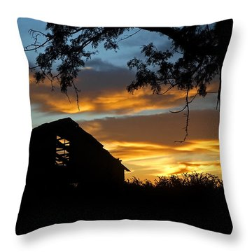 Abandon At Sunrise Throw Pillow