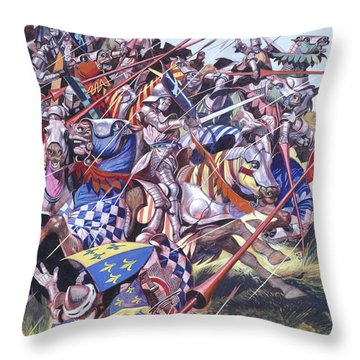Agincourt The Impossible Victory 25 October 1415 Throw Pillow by Ron Embleton