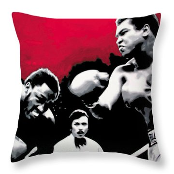 - Ali Vs Fraser - Throw Pillow by Luis Ludzska