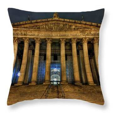 ... And Justice For All Throw Pillow by Evelina Kremsdorf