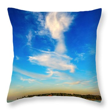 Angel  Walking On Air  Throw Pillow by Glenn Feron