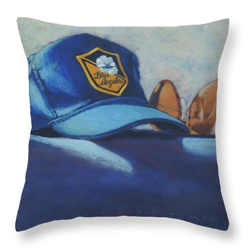 Angels Hat And Sunglasses Throw Pillow