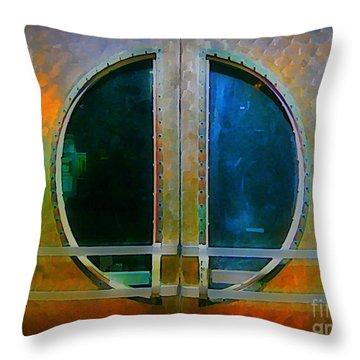 Art Deco Door In Halifax Nova Scotia Throw Pillow by John Malone